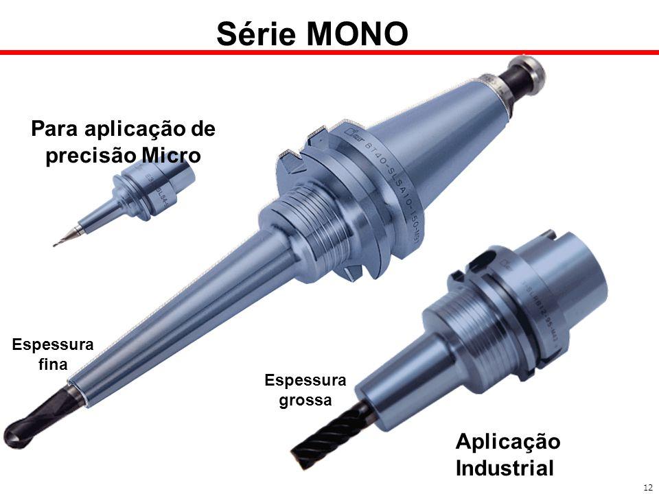 Para aplicação de precisão Micro Aplicação Industrial Espessura fina Espessura grossa Série MONO 12