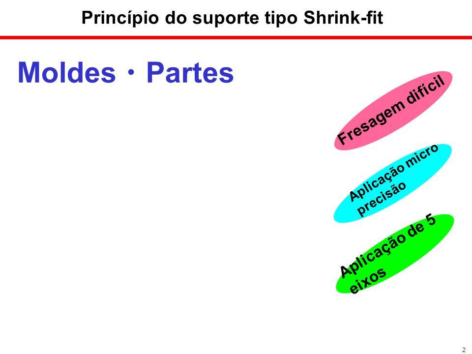 Moldes Partes Aplicação micro precisão 2 Princípio do suporte tipo Shrink-fit Fresagem difícil Aplicação de 5 eixos