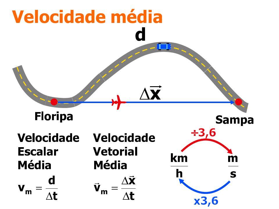 Questão 01 Um viajante cobriu a distância de 760 km em 12 h, sendo os primeiros 200 km percorridos com certa velocidade escalar média e os 560 km restantes com velocidade escalar média igual ao dobro da anterior.