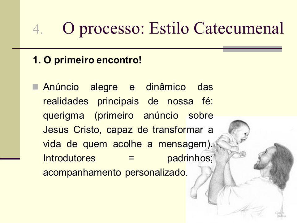 4. O processo: Estilo Catecumenal Anúncio alegre e dinâmico das realidades principais de nossa fé: querigma (primeiro anúncio sobre Jesus Cristo, capa