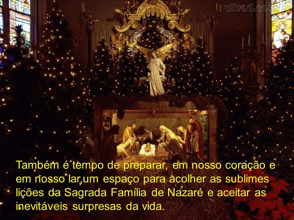 Natal é tempo...de dar um toque na vida com as cores da esperança, da fé, da paz e do amor.