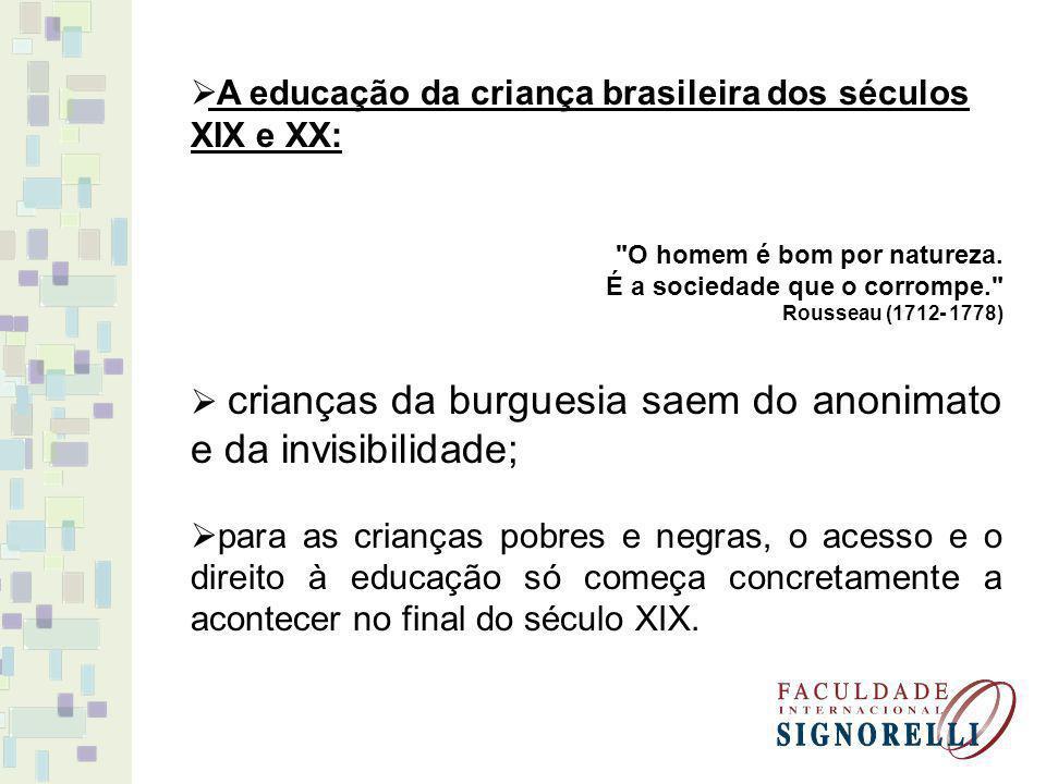 A educação da criança brasileira dos séculos XIX e XX: O homem é bom por natureza.
