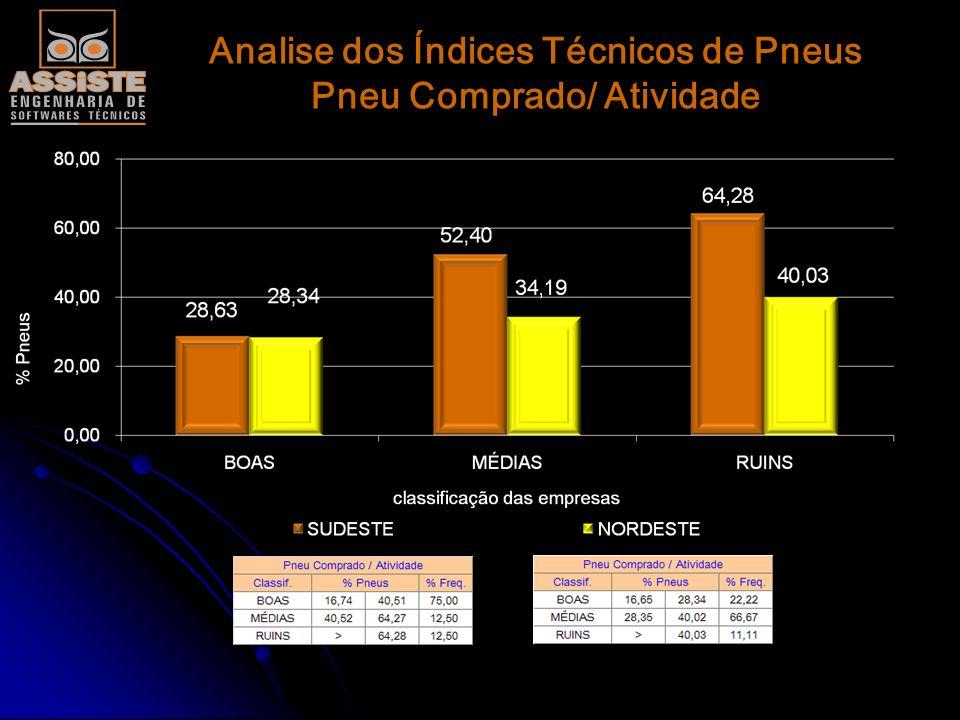 Analise dos Índices Técnicos de Pneus Pneus/ Borracheiro