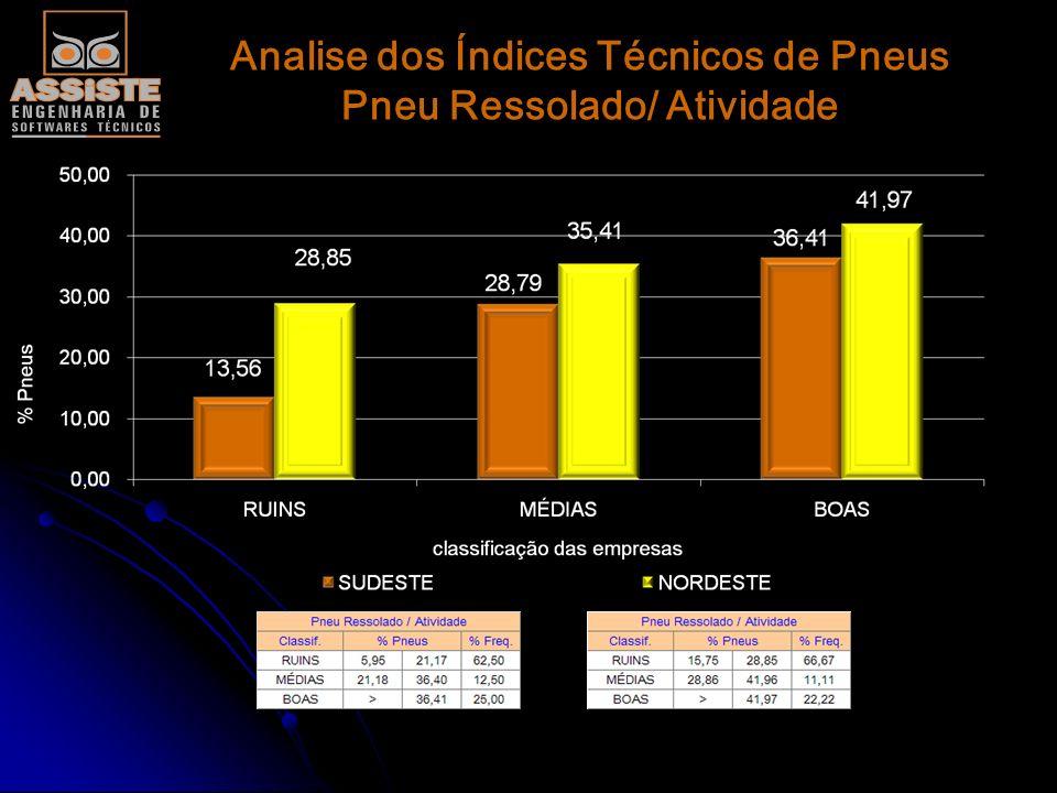 Analise dos Índices Técnicos de Pneus Pneu Comprado/ Atividade