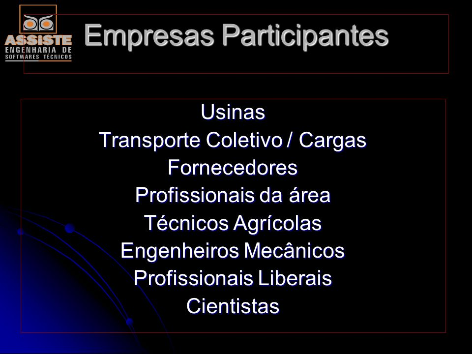 O objetivo global do seminário: -Incentivo aos funcionários da área, como: gerentes, engenheiros, encarregados e técnicos das áreas em especial aos CO