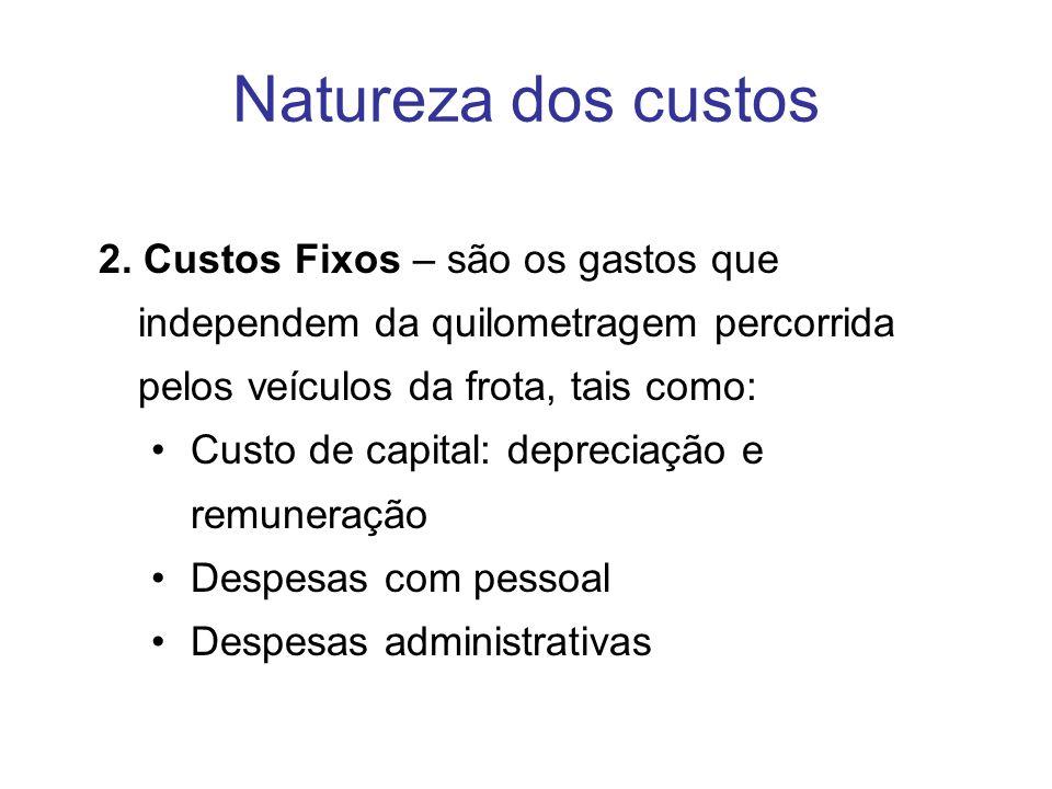 Natureza dos custos 2.
