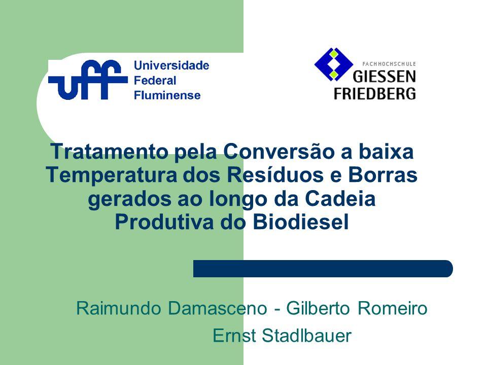 Tratamento pela Conversão a baixa Temperatura dos Resíduos e Borras gerados ao longo da Cadeia Produtiva do Biodiesel Raimundo Damasceno - Gilberto Ro