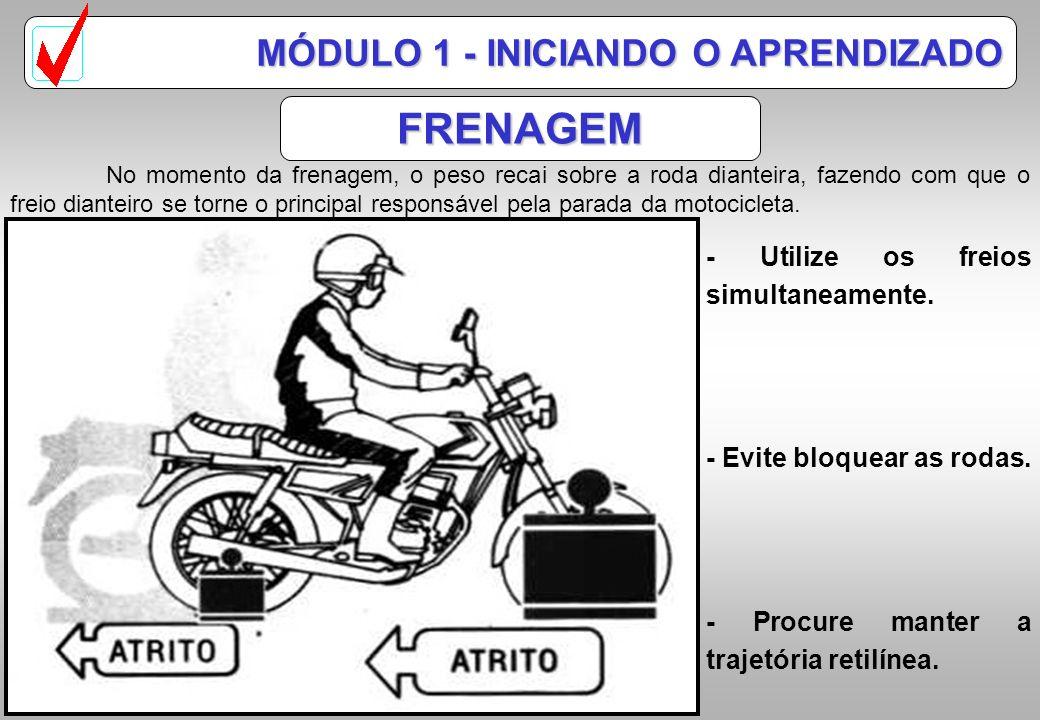 CENTRO DE GRAVIDADE CG Motocicleta CG Conjunto CG Piloto IM IE CARACTERÍSTICAS MÓDULO 1 - INICIANDO O APRENDIZADO Piloto mais inclinado que motociclet