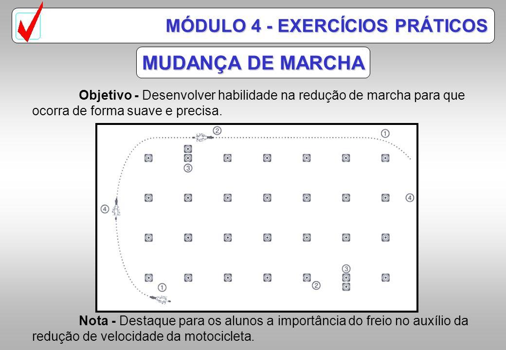 MODELO DE PISTA PADRÃO HONDA 5-Slalon duplo ( Ex.5 ) 6-Slalon simples ( Ex.6 ) MÓDULO 4 - EXERCÍCIOS PRÁTICOS
