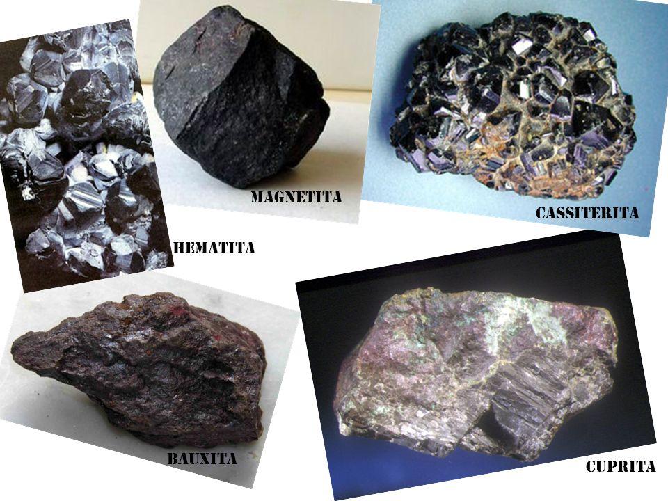 Cuprita Cassiterita Bauxita Hematita Magnetita