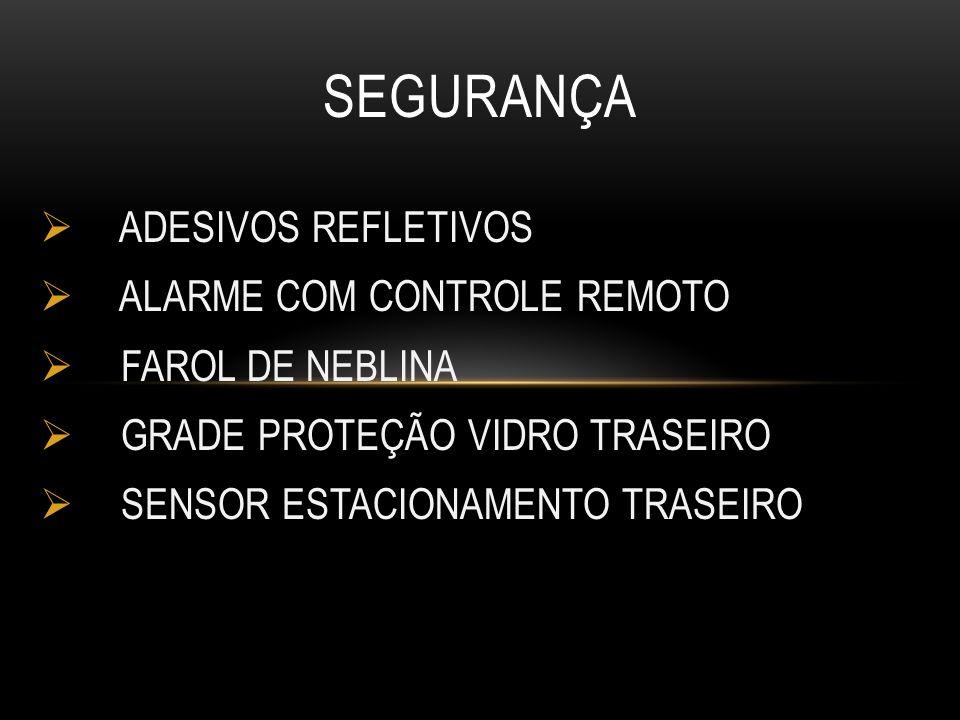 ADESIVOS REFLETIVOS ALARME COM CONTROLE REMOTO FAROL DE NEBLINA GRADE PROTEÇÃO VIDRO TRASEIRO SENSOR ESTACIONAMENTO TRASEIRO SEGURANÇA