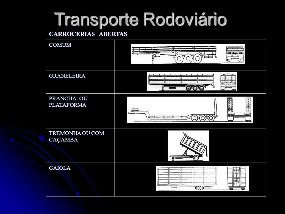 CARROCERIAS ABERTAS COMUM GRANELEIRA PRANCHA OU PLATAFORMA TREMONHA OU COM CAÇAMBA GAIOLA Transporte Rodoviário