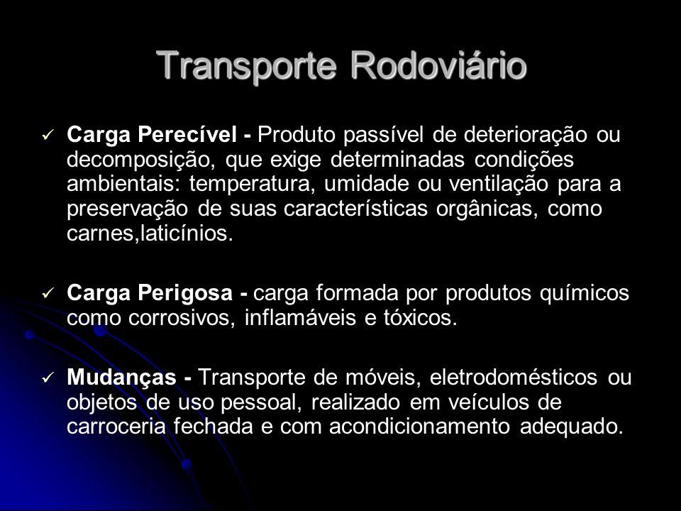 Transporte Rodoviário Carga Perecível - Produto passível de deterioração ou decomposição, que exige determinadas condições ambientais: temperatura, um