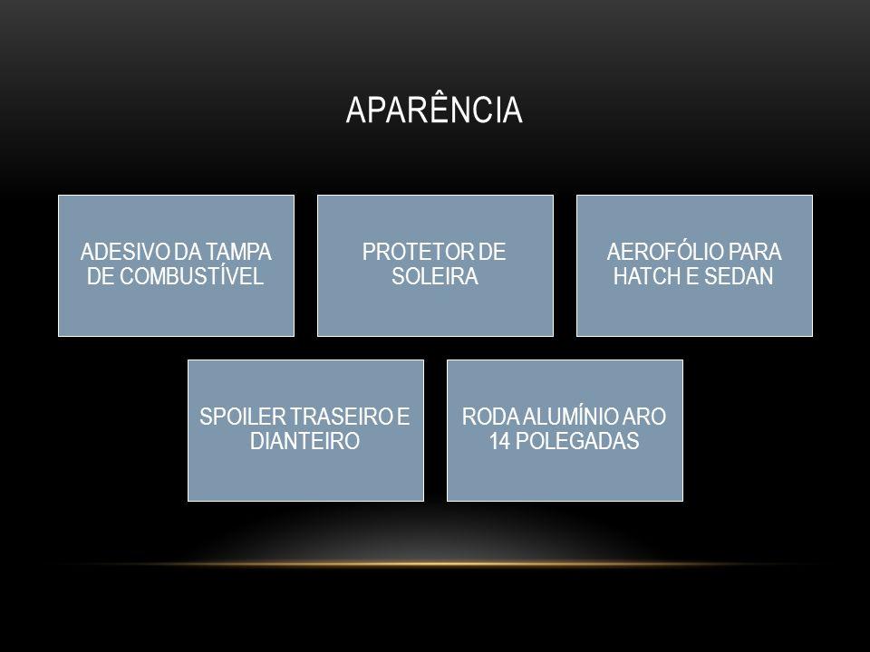 APARÊNCIA ADESIVO DA TAMPA DE COMBUSTÍVEL PROTETOR DE SOLEIRA AEROFÓLIO PARA HATCH E SEDAN SPOILER TRASEIRO E DIANTEIRO RODA ALUMÍNIO ARO 14 POLEGADAS