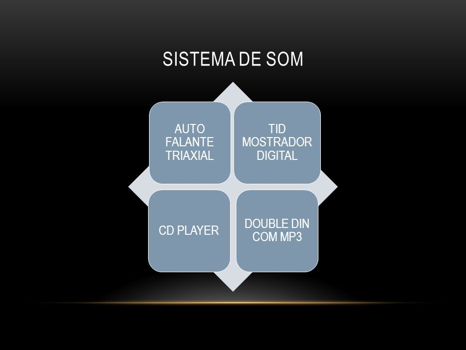SISTEMA DE SOM AUTO FALANTE TRIAXIAL TID MOSTRADOR DIGITAL CD PLAYER DOUBLE DIN COM MP3