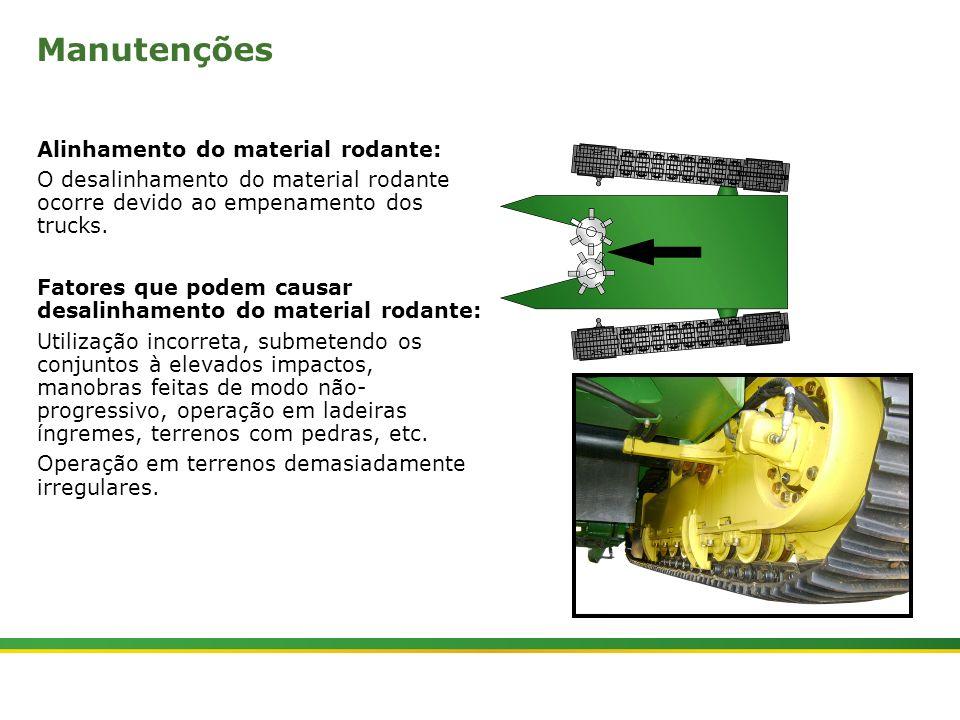 |Colhedora de Cana 3520 & 3522 : Material Rodante | Janeiro, 201015 Manutenções Alinhamento do material rodante: O desalinhamento do material rodante