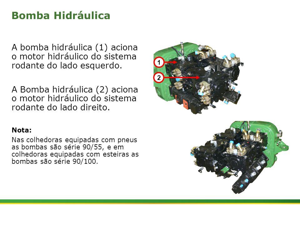 |Colhedora de Cana 3520 & 3522 : Material Rodante | Janeiro, 201018 Bomba Hidráulica A bomba hidráulica (1) aciona o motor hidráulico do sistema rodan