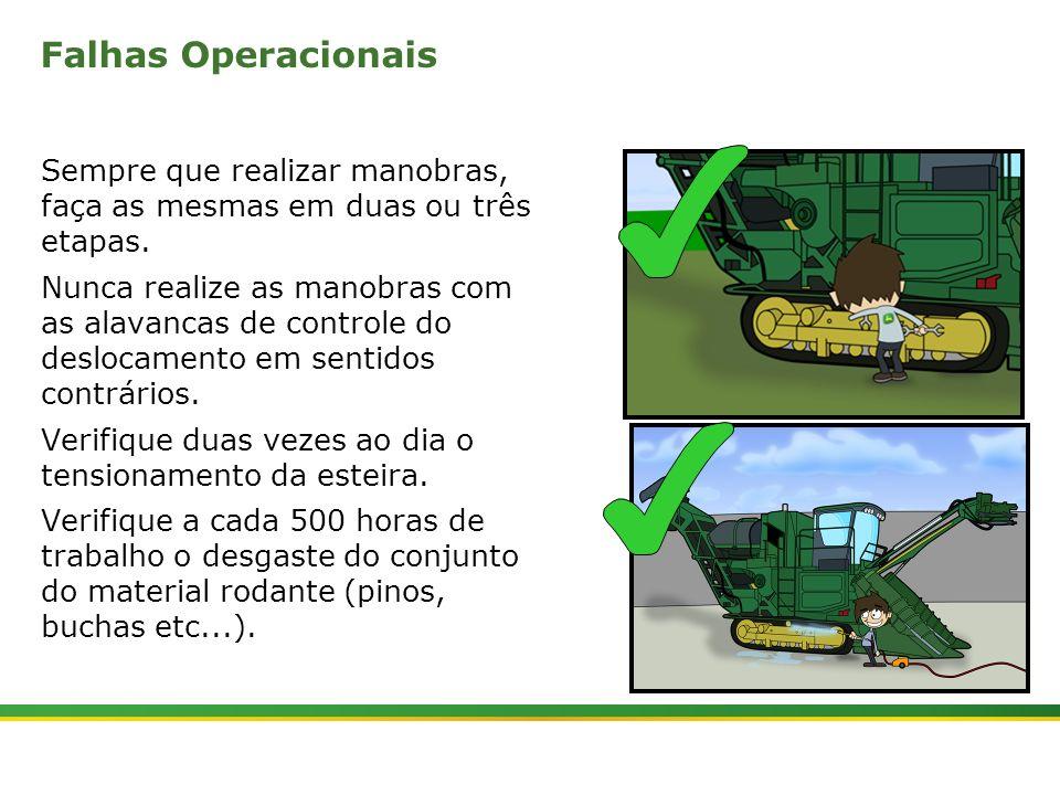 |Colhedora de Cana 3520 & 3522 : Material Rodante | Janeiro, 201023 Falhas Operacionais Sempre que realizar manobras, faça as mesmas em duas ou três e