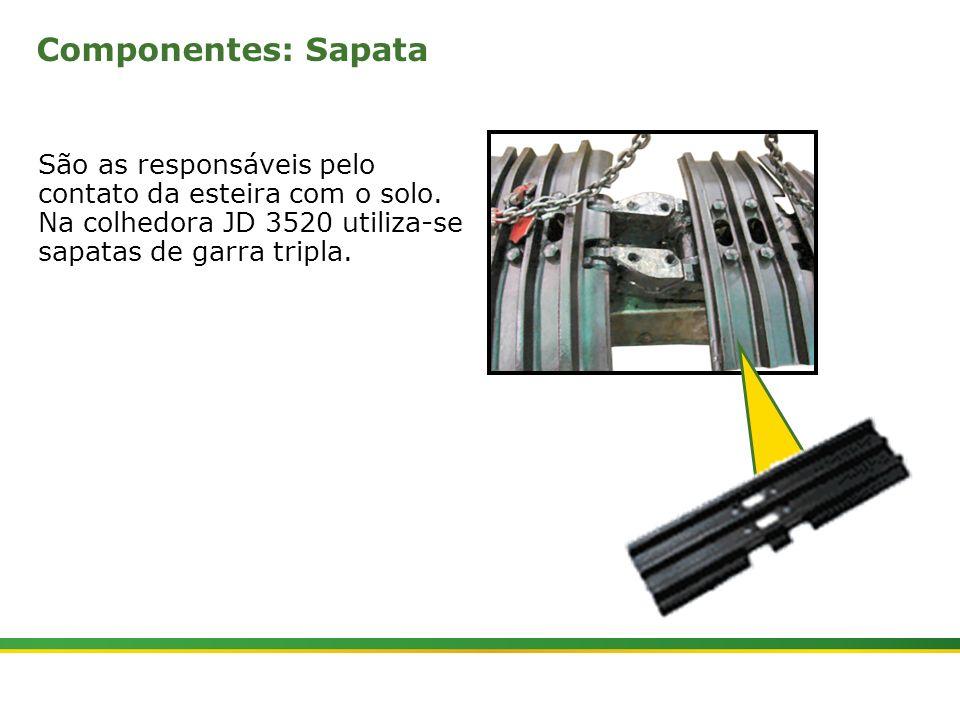 |Colhedora de Cana 3520 & 3522 : Material Rodante | Janeiro, 20105 Componentes: Sapata São as responsáveis pelo contato da esteira com o solo. Na colh