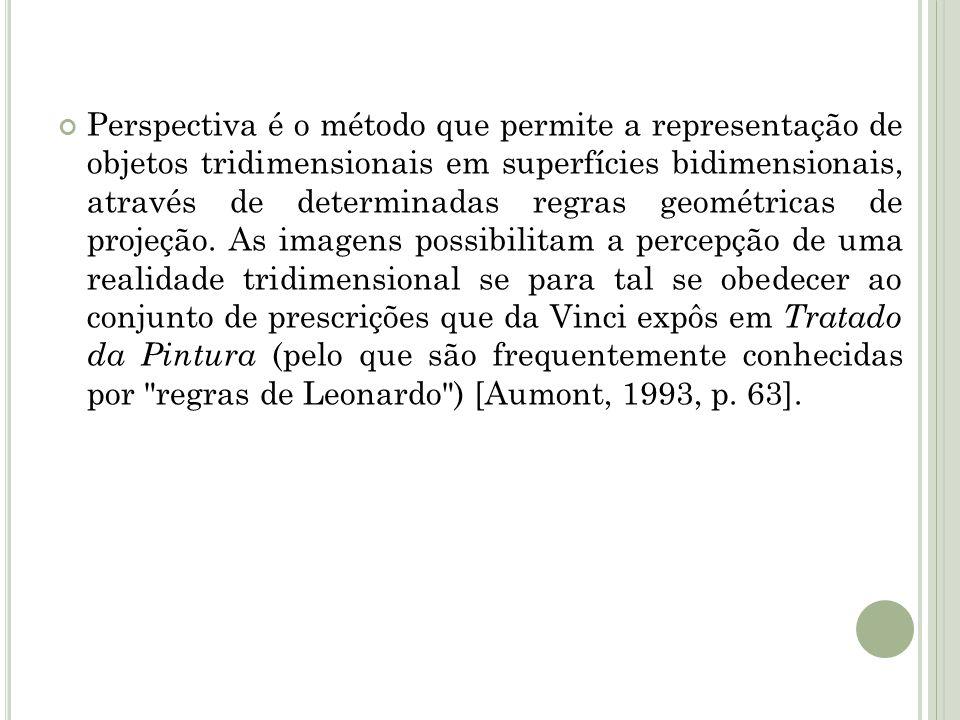 Perspectiva é o método que permite a representação de objetos tridimensionais em superfícies bidimensionais, através de determinadas regras geométrica