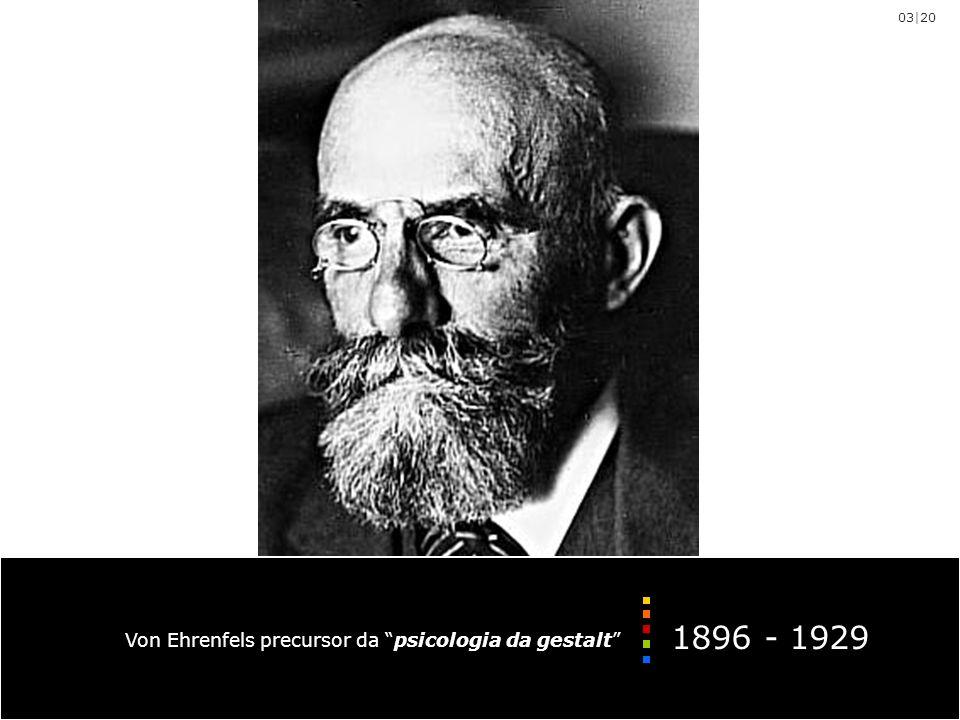 Von Ehrenfels precursor da psicologia da gestalt 1896 - 1929 03|20