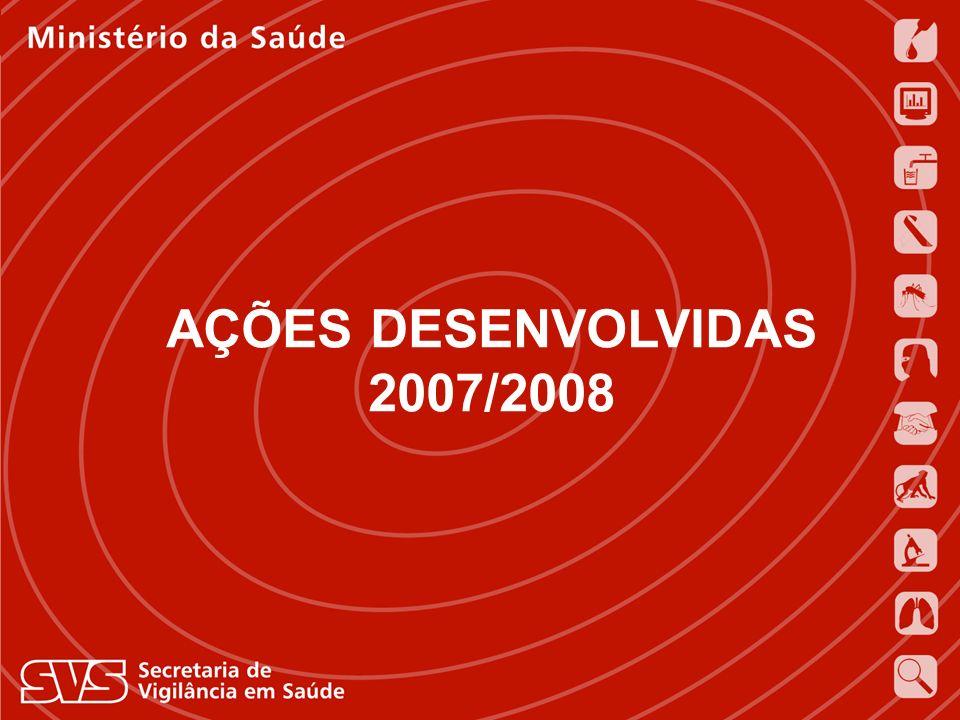 AÇÕES DESENVOLVIDAS 2007/2008