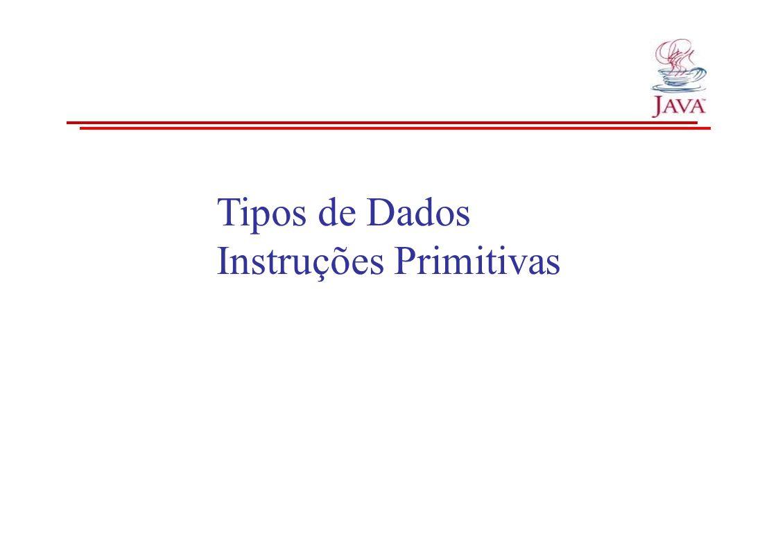 Tipos de Dados Instruções Primitivas