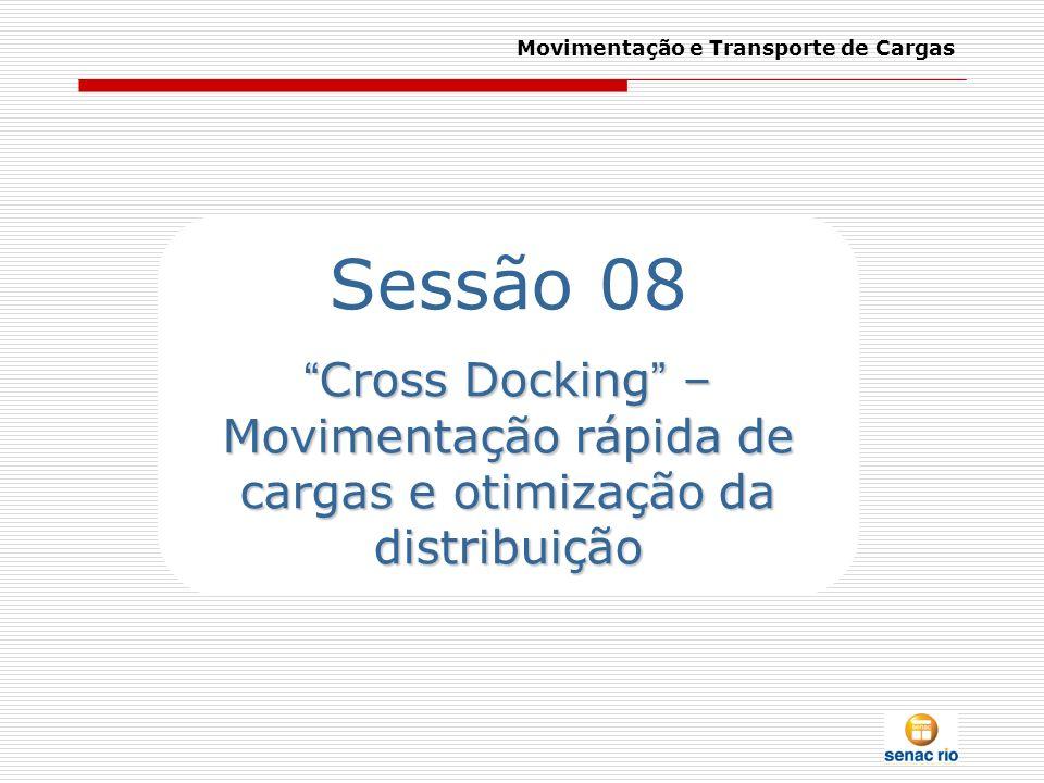Movimentação e Transporte de Cargas Sessão 08 Cross Docking – Movimentação rápida de cargas e otimização da distribuição Cross Docking – Movimentação