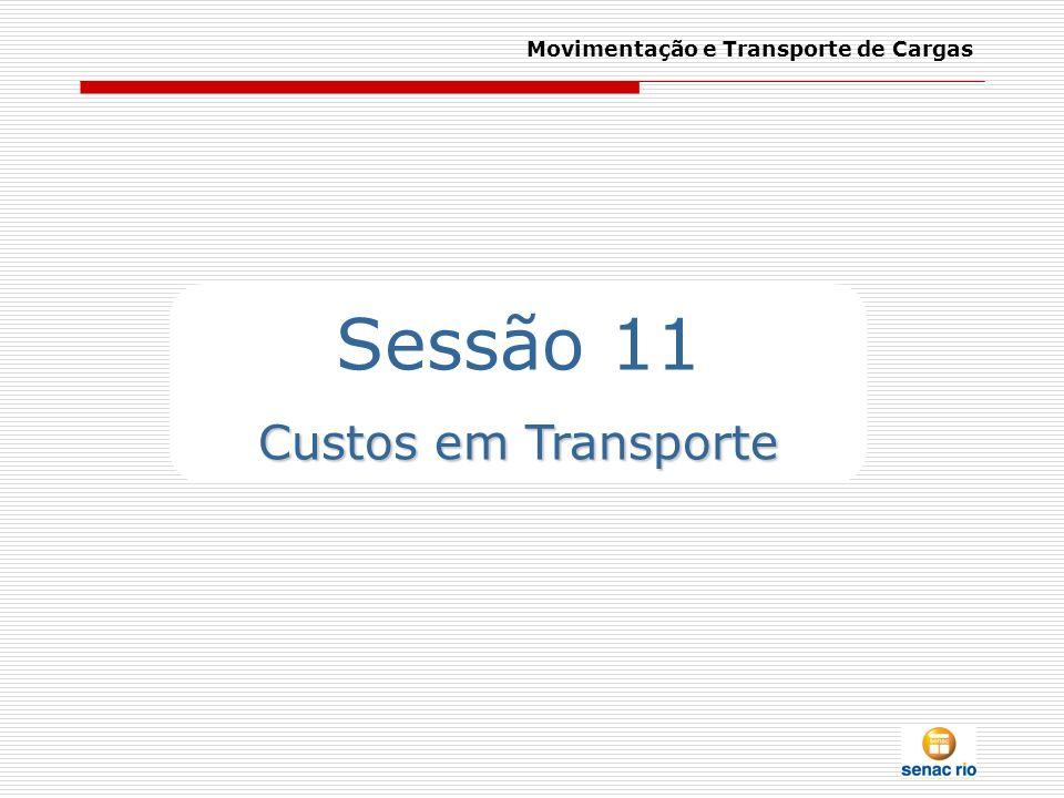Movimentação e Transporte de Cargas Sessão 11 Custos em Transporte