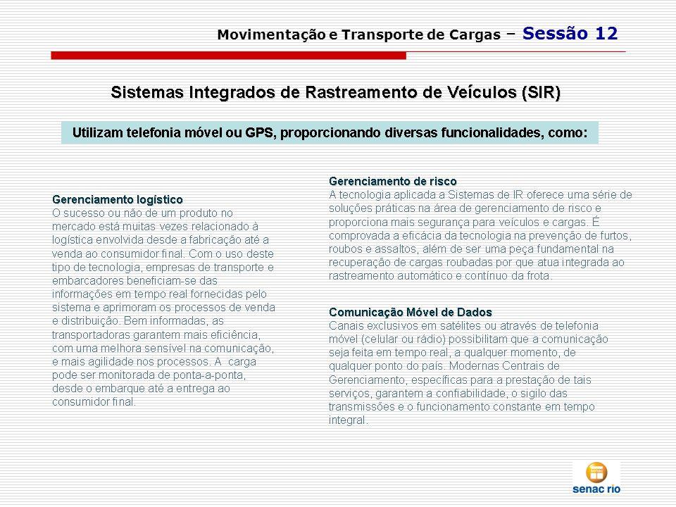 Movimentação e Transporte de Cargas – Sessão 12