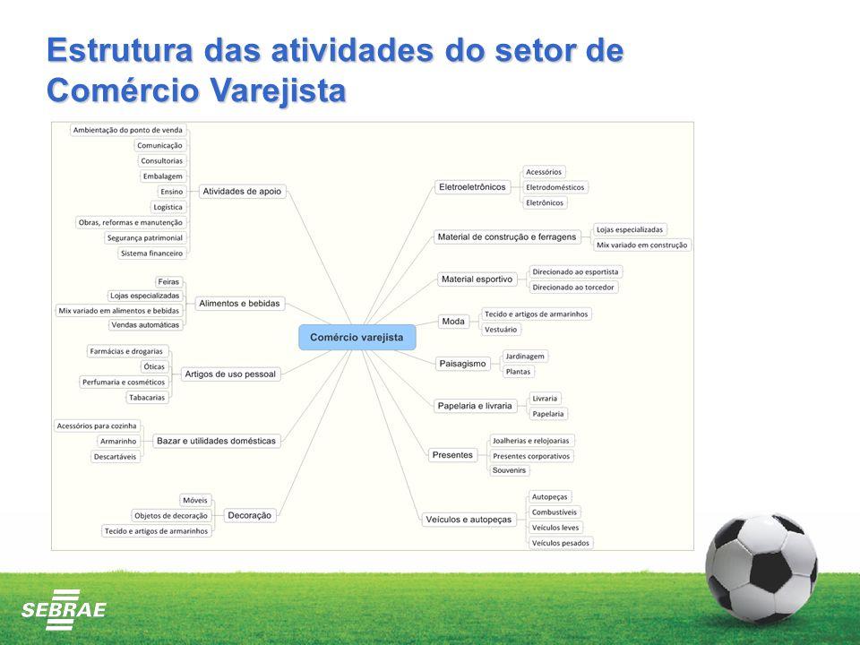 Estrutura das atividades do setor de Comércio Varejista