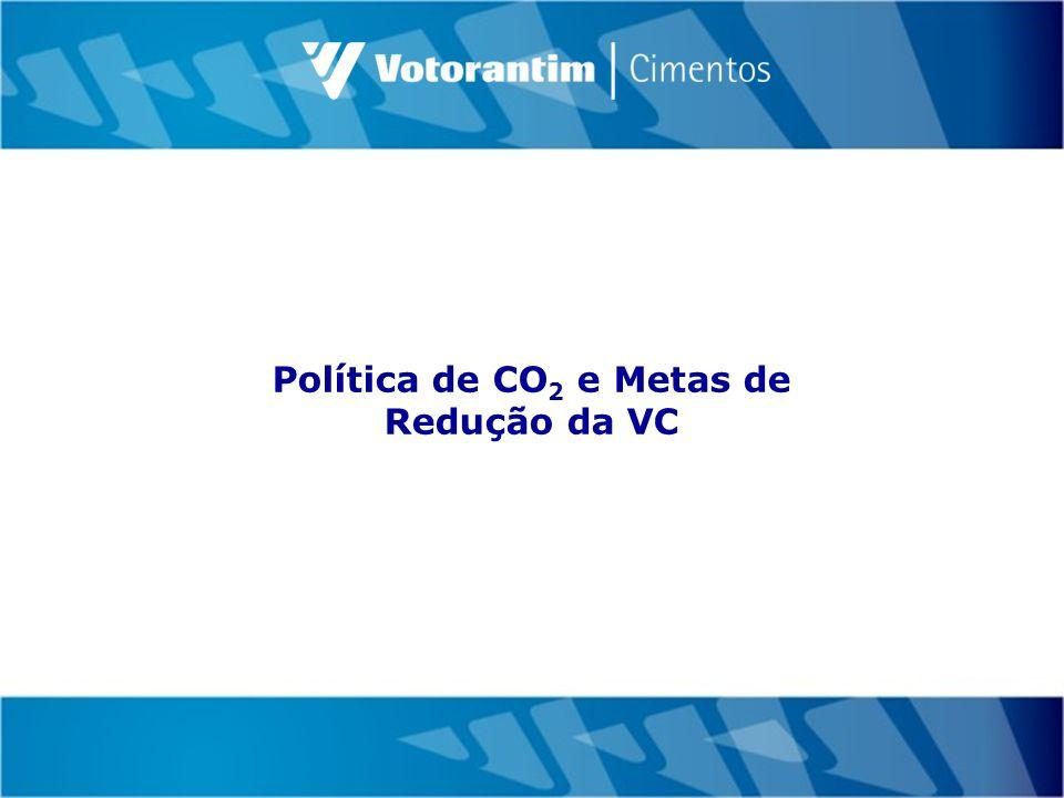 Política de CO 2 e Metas de Redução da VC