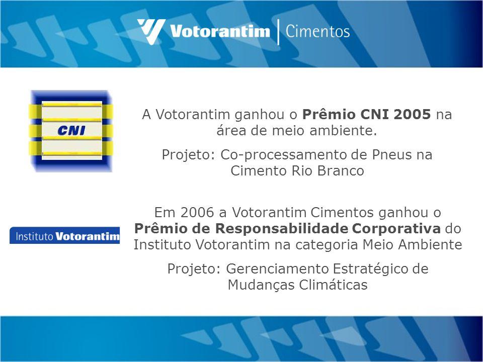 A Votorantim ganhou o Prêmio CNI 2005 na área de meio ambiente.