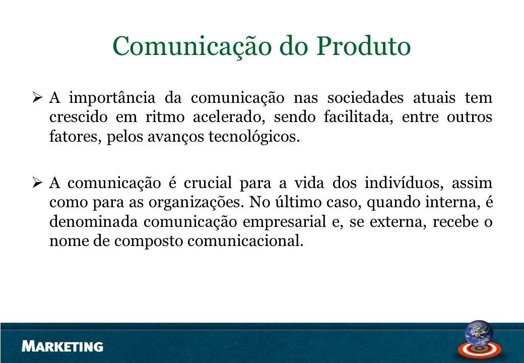 Comunicação do Produto A importância da comunicação nas sociedades atuais tem crescido em ritmo acelerado, sendo facilitada, entre outros fatores, pel