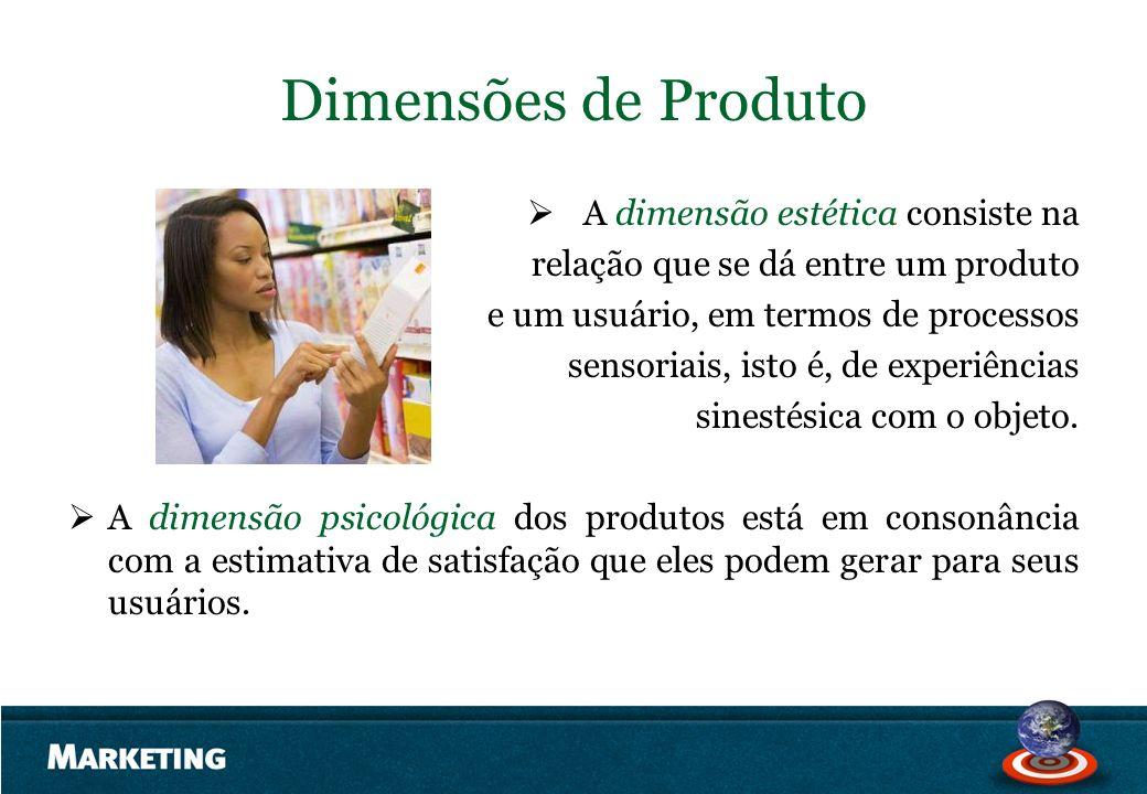 A dimensão estética consiste na relação que se dá entre um produto e um usuário, em termos de processos sensoriais, isto é, de experiências sinestésic
