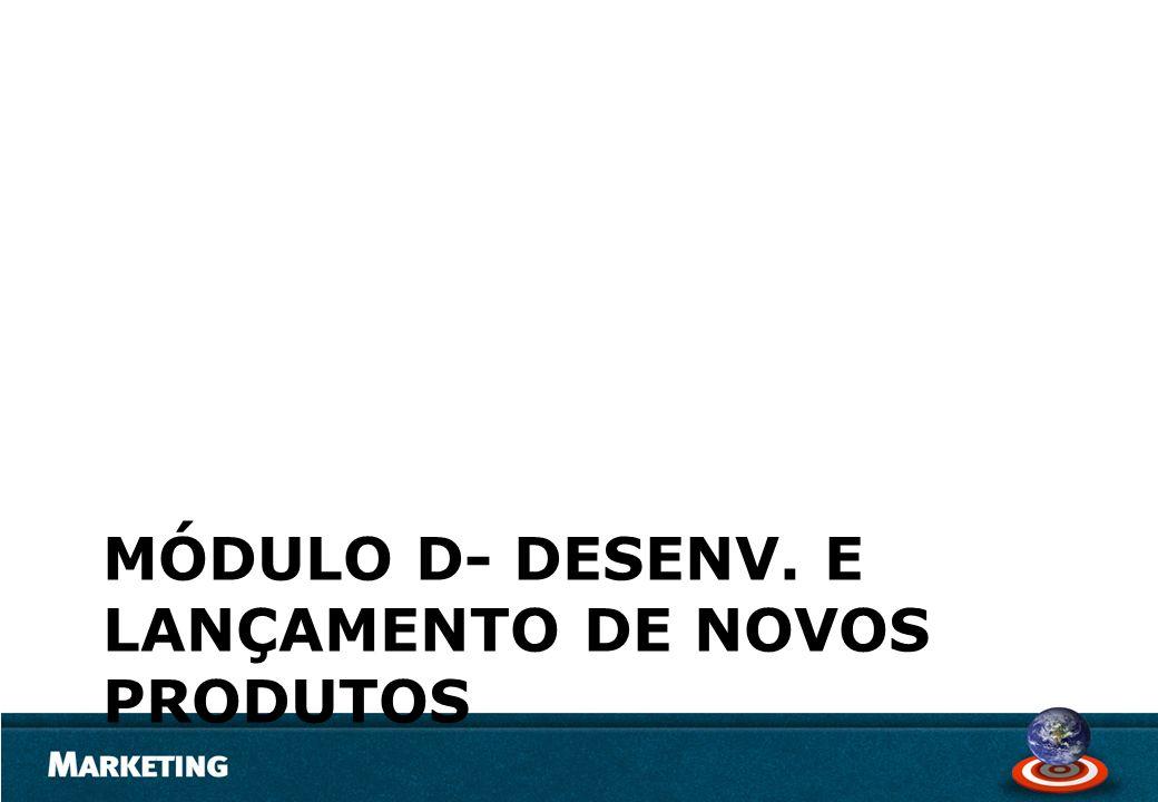 MÓDULO D- DESENV. E LANÇAMENTO DE NOVOS PRODUTOS