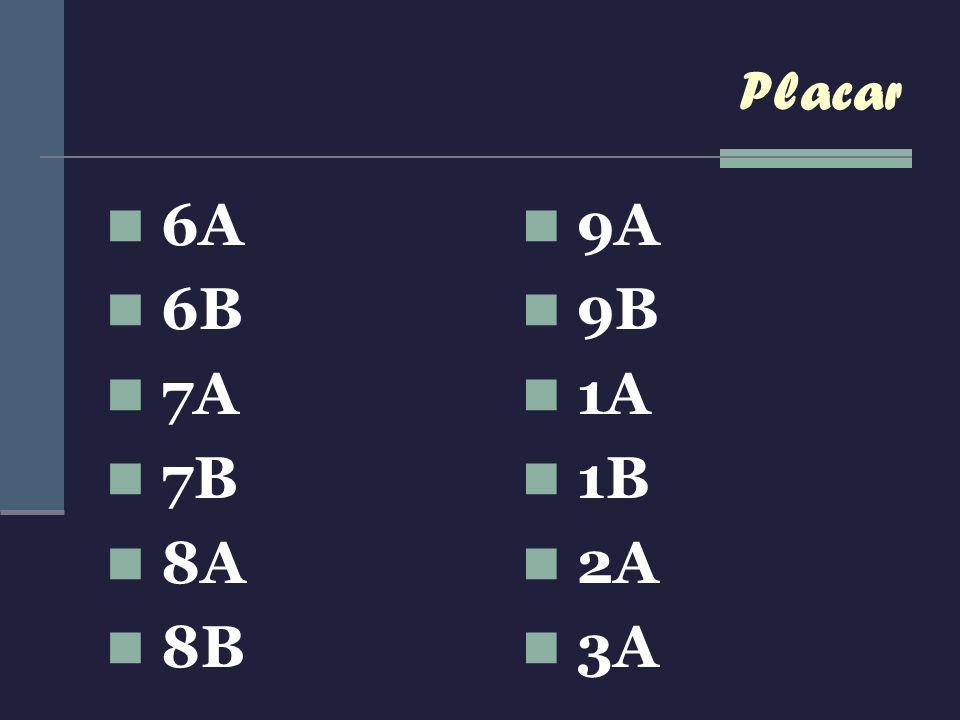 Placar 6A 6B 7A 7B 8A 8B 9A 9B 1A 1B 2A 3A
