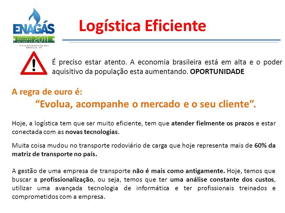 Logística Eficiente É preciso estar atento. A economia brasileira está em alta e o poder aquisitivo da população esta aumentando. OPORTUNIDADE A regra