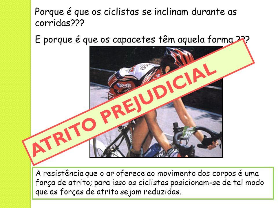 Porque é que os ciclistas se inclinam durante as corridas??? E porque é que os capacetes têm aquela forma ??? A resistência que o ar oferece ao movime