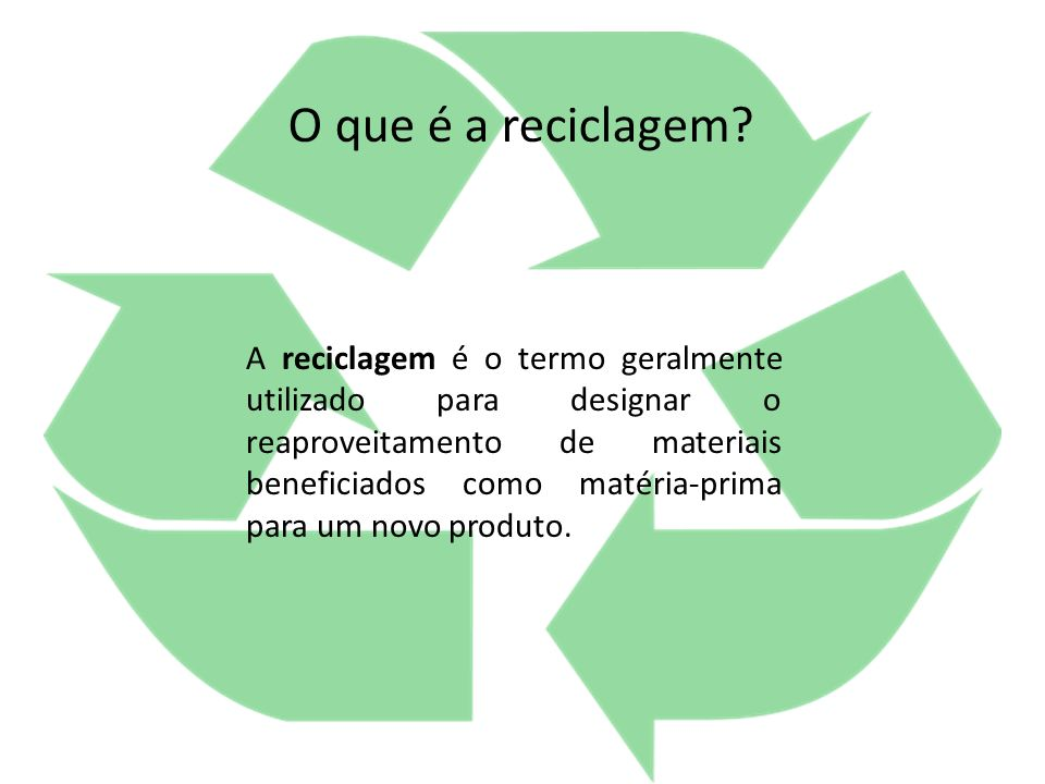 Quais as vantagens da Reciclagem .