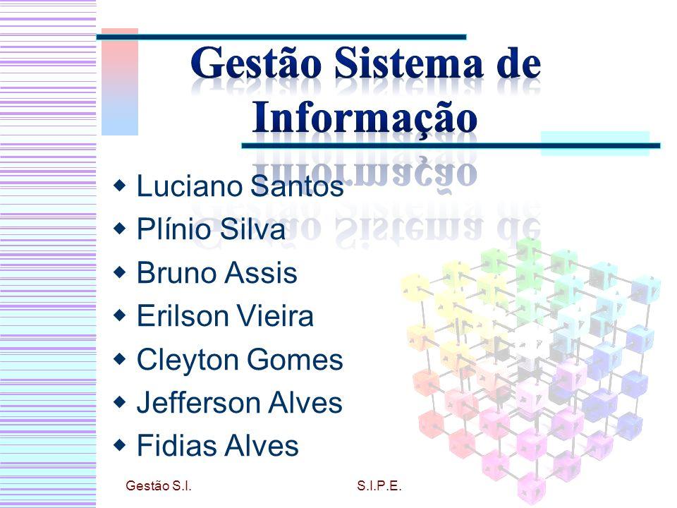 Luciano Santos Plínio Silva Bruno Assis Erilson Vieira Cleyton Gomes Jefferson Alves Fidias Alves Gestão S.I.S.I.P.E.