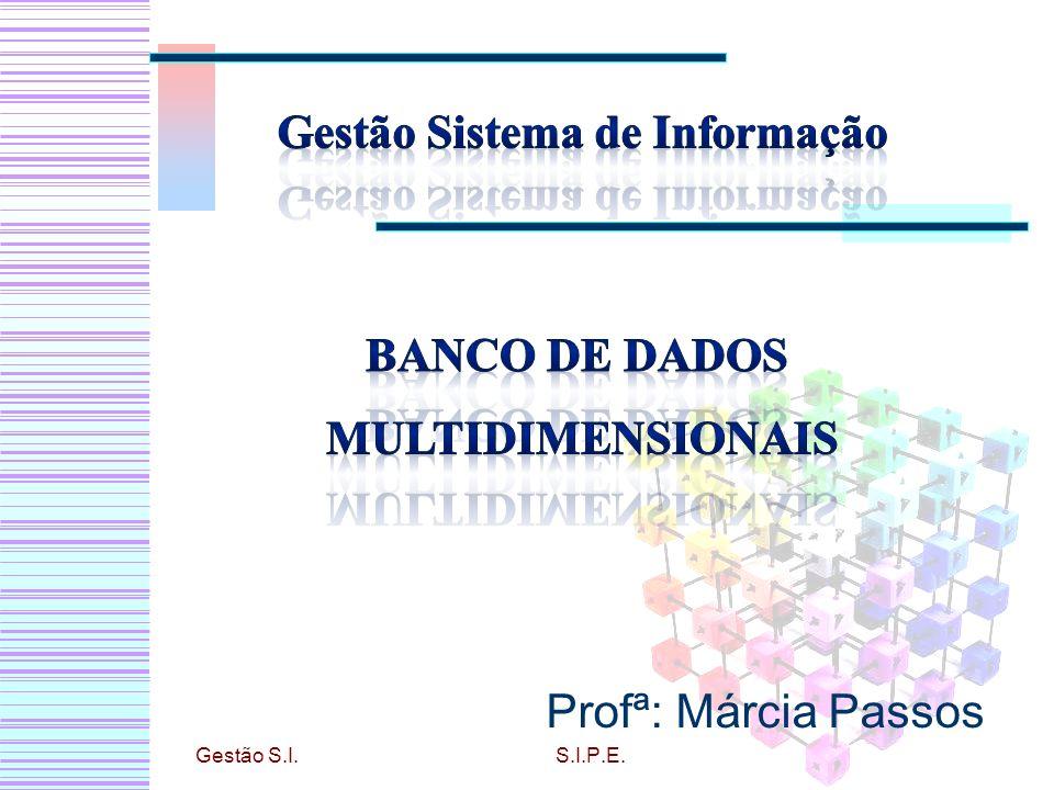 O que é BD Multidimensional? Características Data Warehouse Ferramentas OLAP Gestão S.I.S.I.P.E.