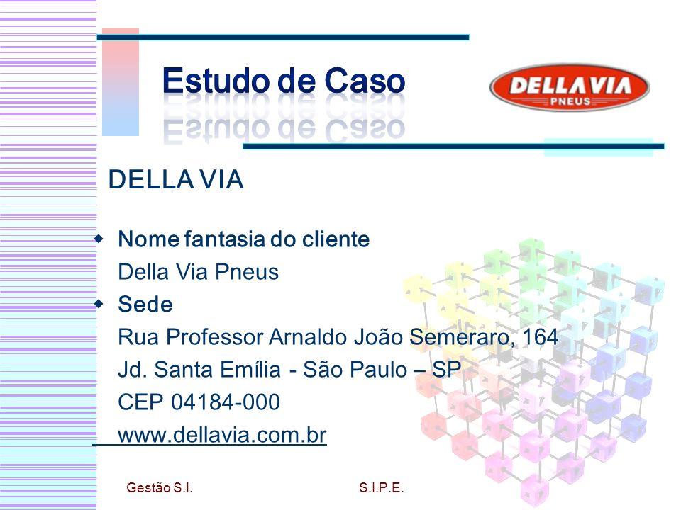 Nome fantasia do cliente Della Via Pneus Sede Rua Professor Arnaldo João Semeraro, 164 Jd. Santa Emília - São Paulo – SP CEP 04184-000 www.dellavia.co