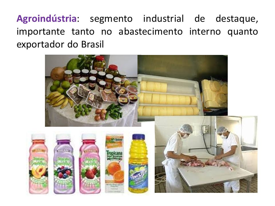 Agroindústria: segmento industrial de destaque, importante tanto no abastecimento interno quanto exportador do Brasil