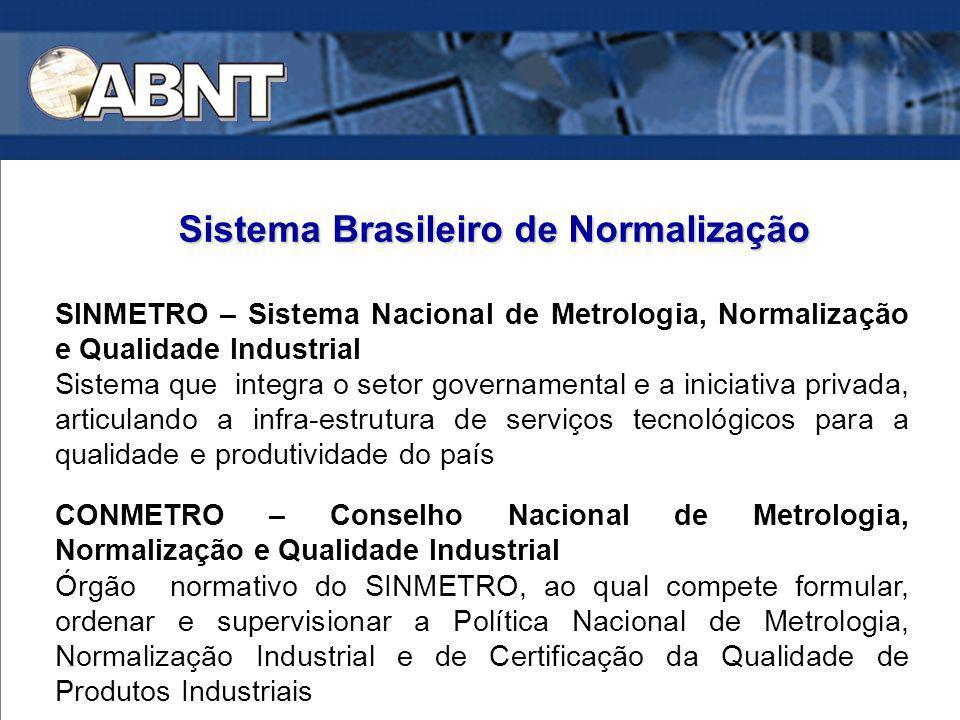 SINMETRO – Sistema Nacional de Metrologia, Normalização e Qualidade Industrial Sistema que integra o setor governamental e a iniciativa privada, artic