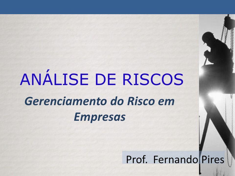 Gerenciamento do Risco em Empresas Prof. Fernando Pires ANÁLISE DE RISCOS