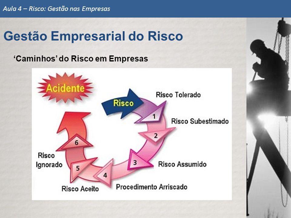 Caminhos do Risco em Empresas Gestão Empresarial do Risco Aula 4 – Risco: Gestão nas Empresas