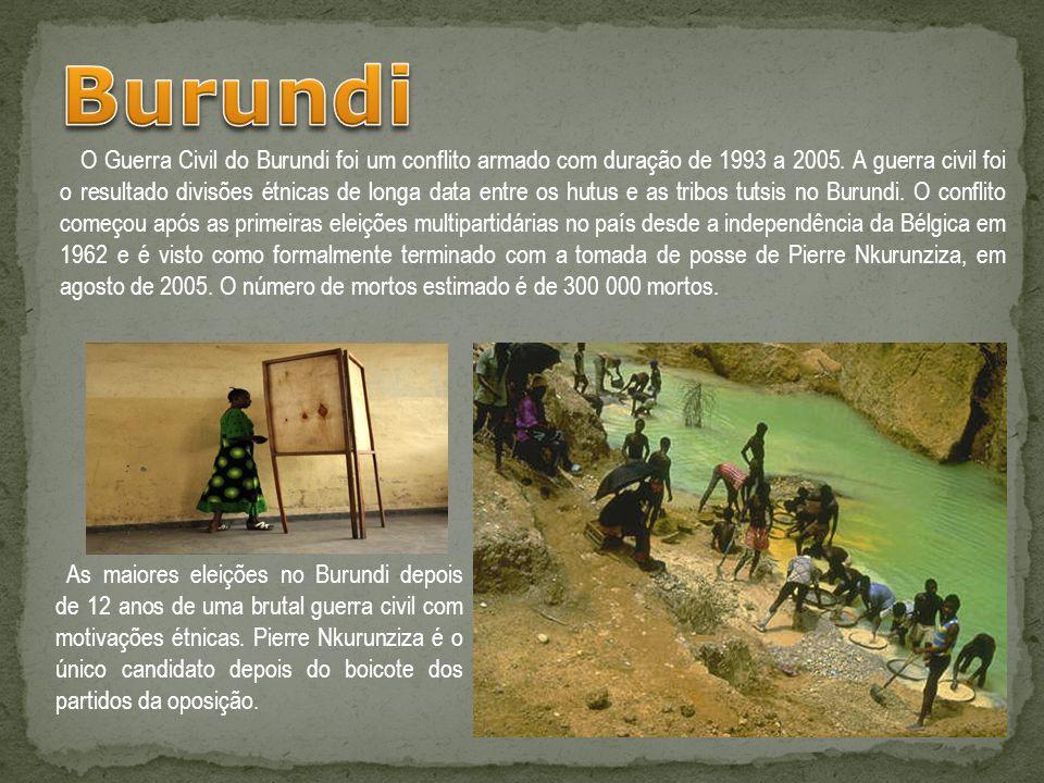 O Guerra Civil do Burundi foi um conflito armado com duração de 1993 a 2005. A guerra civil foi o resultado divisões étnicas de longa data entre os hu