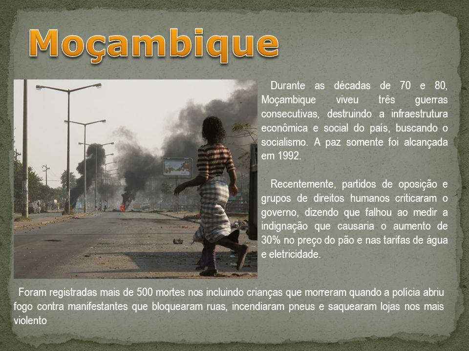 Durante as décadas de 70 e 80, Moçambique viveu três guerras consecutivas, destruindo a infraestrutura econômica e social do país, buscando o socialis