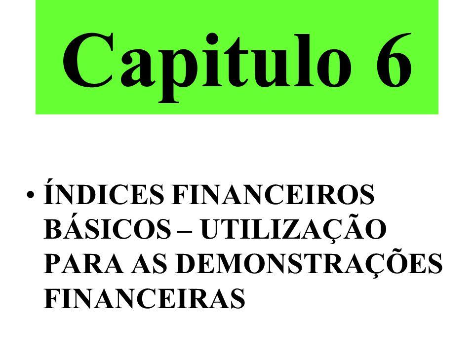Índices Financeiros Básicos Capital de Terceiros Passivo Circulante Exigivel a Longo Prazo Capital de Sócios Patrimonio Liquido Ativos Circulante Permanente